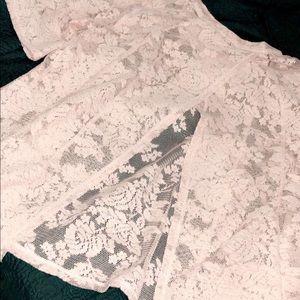 Bcbg lace flora blouse